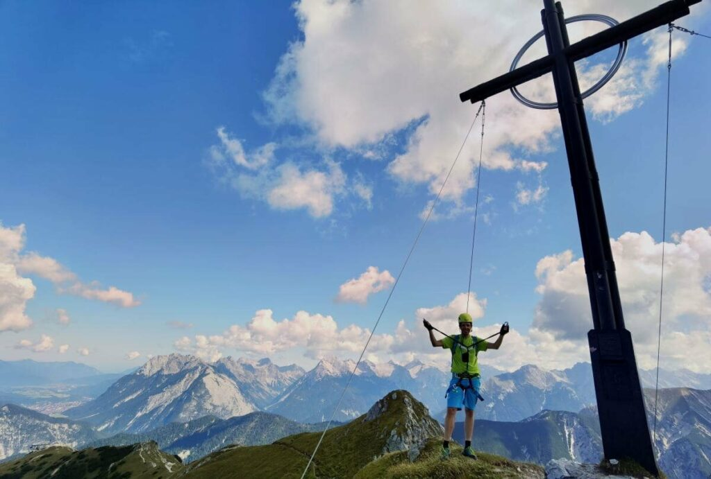 Seefeld Klettersteig - mit 360 Grad Panorama auf Karwendel und Wettersteingebirge
