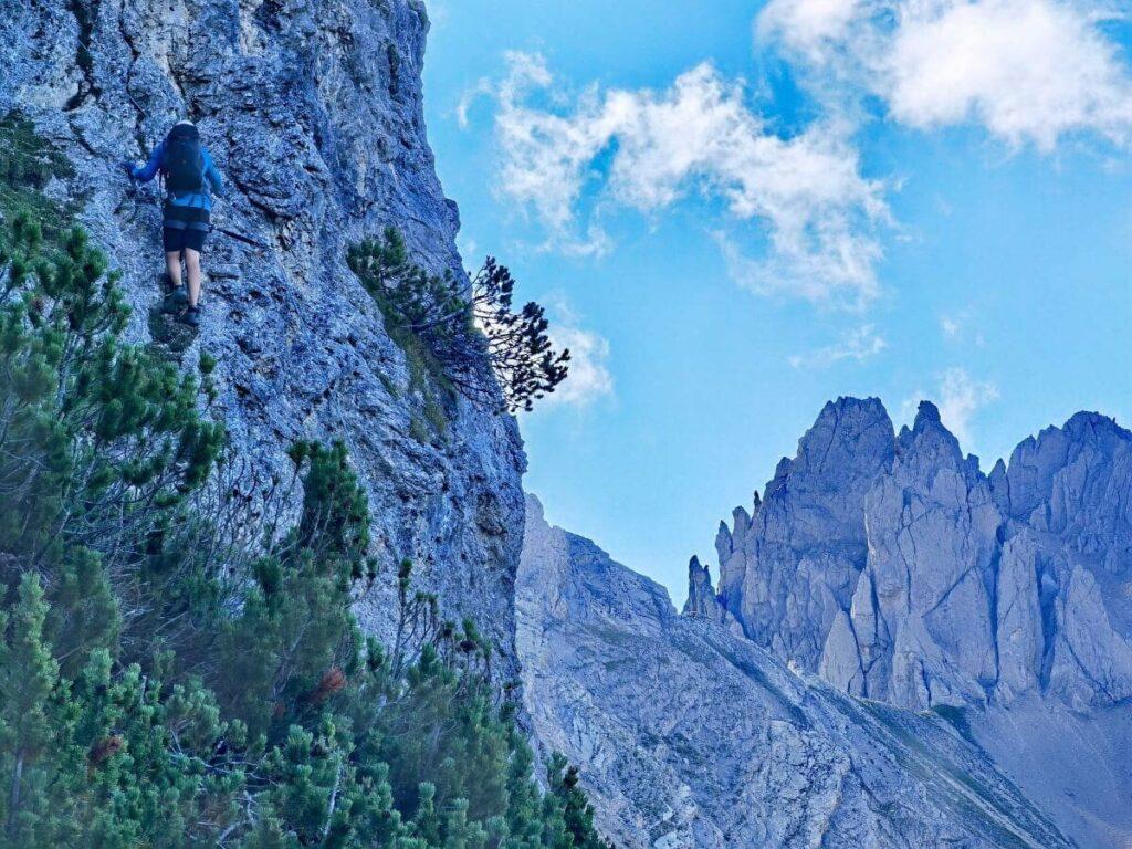 Dolomiten oder Karwendel? Mein Bild beim Einstieg in den Seefeld Klettersteig