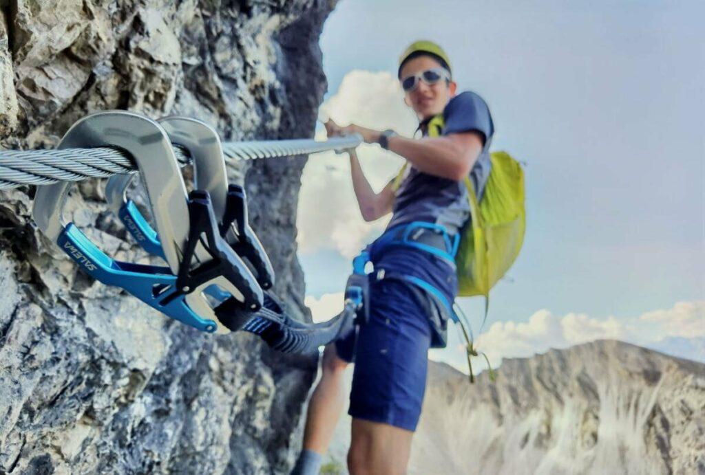 Angenehme Schwierigkeit und ideal mit motivierten Teenagern - der Seefeld Klettersteig auf der Rosshütte