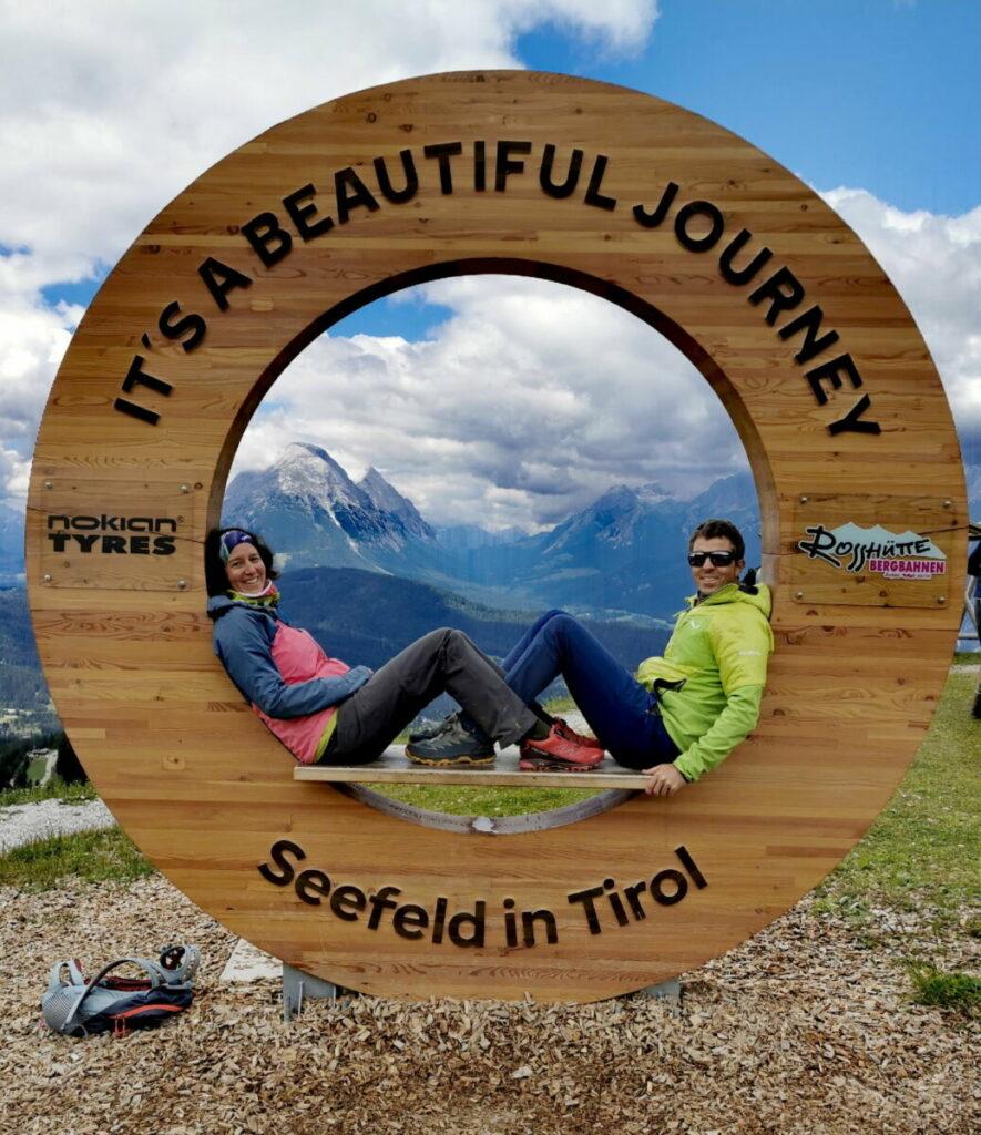 Seefeld Rosshütte - willkommen im Karwendel, mit Blick ins Wettersteingebirge