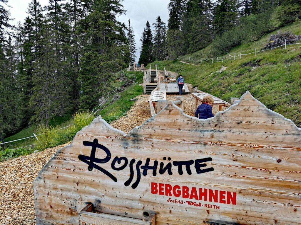 Seefeld Rosshütte Attraktion mit Kindern: Die Kugelbahn