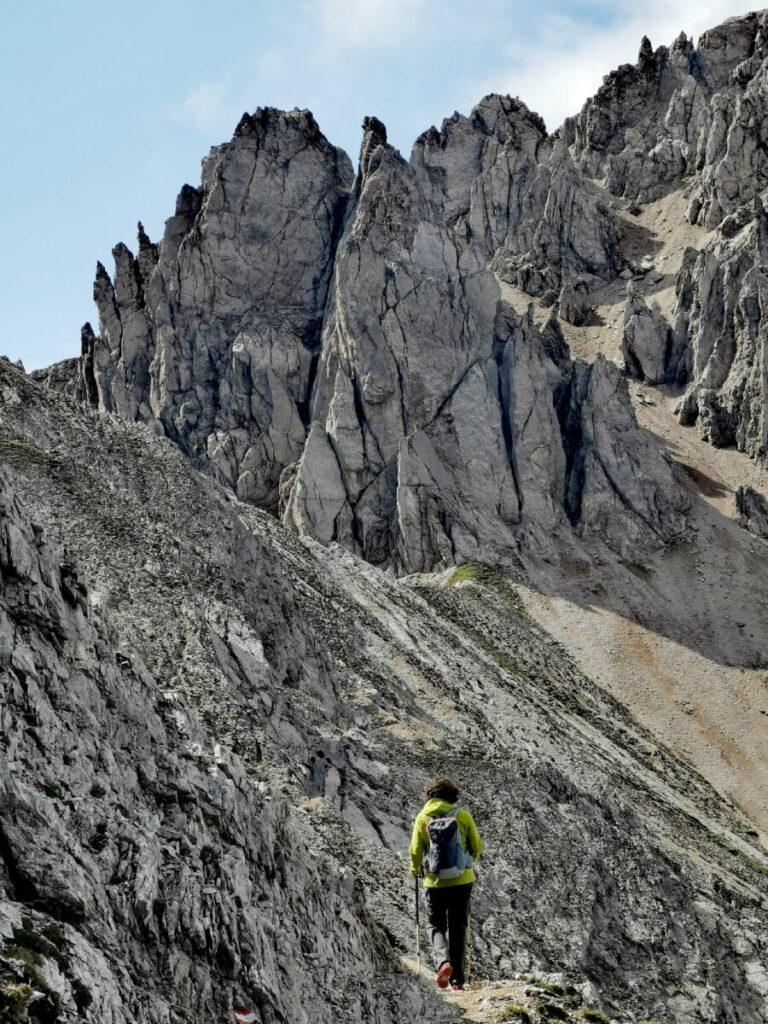Seefeld Rosshütte wandern - von der Seefelder Spitze zur Reither Scharte