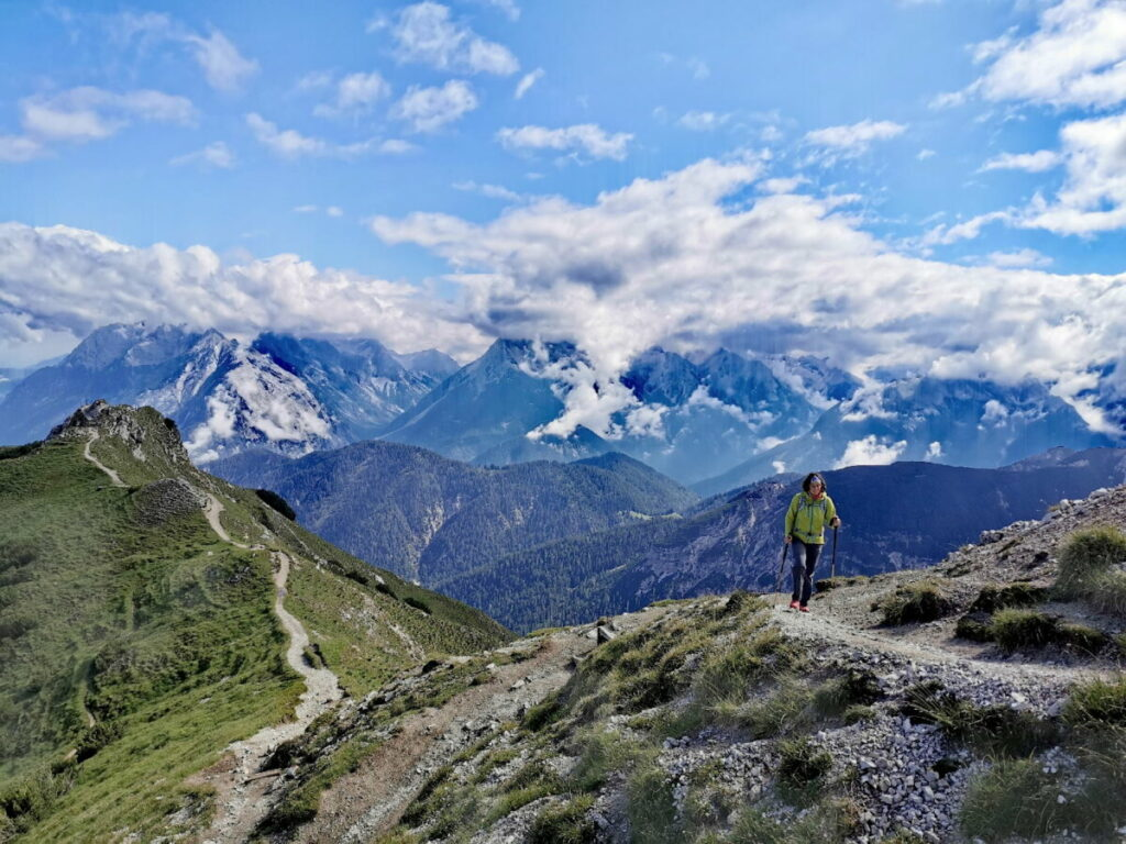 Seefeld wandern - mit viel Aussicht auf der Rosshütte in Seefeld