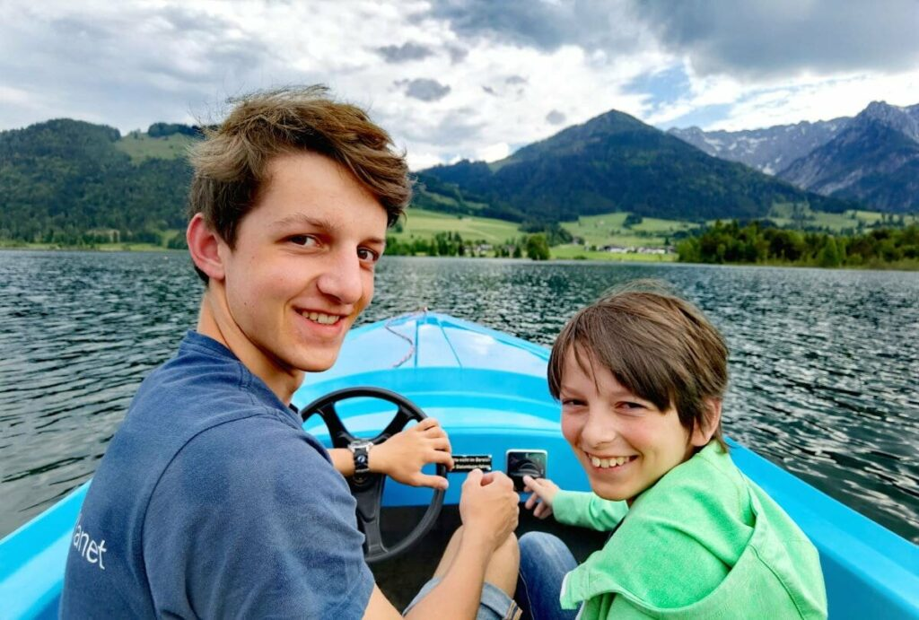 Einer der größeren Seen in Tirol - der Walchsee
