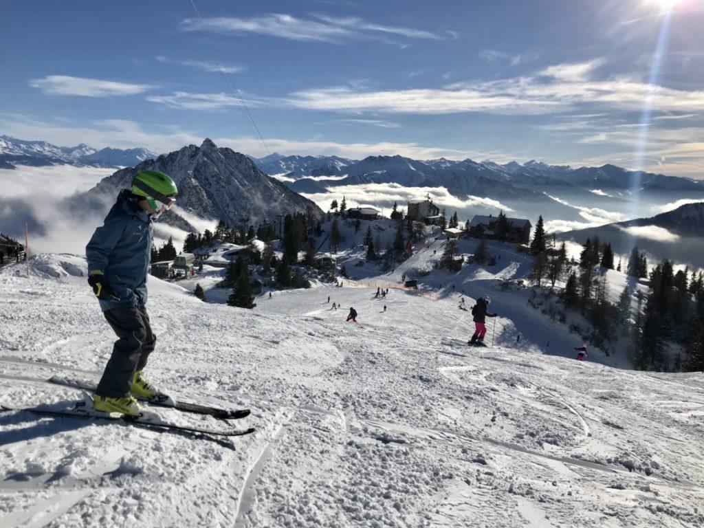 Das Skigebiet Rofan in Eben am Achensee