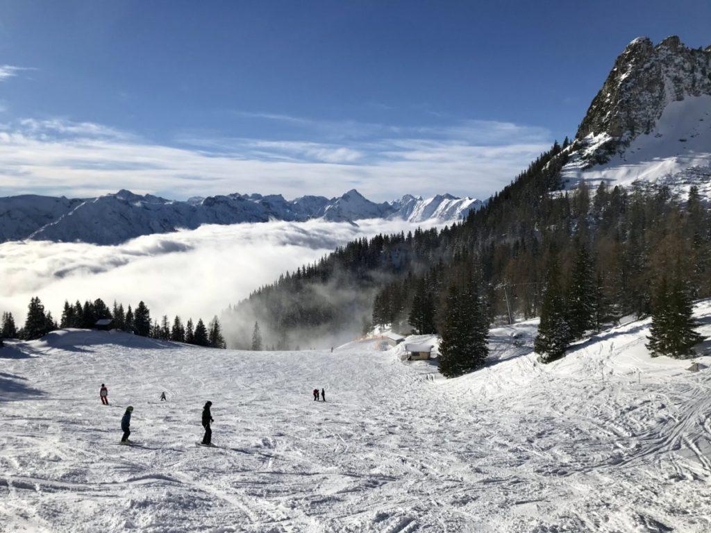 Skigebiet Rofan am Achensee mit Sicht auf´s Karwendel