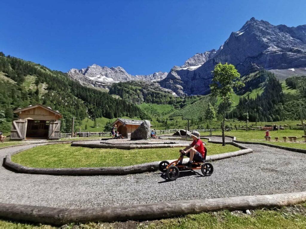 Karwendel mit Kindern de luxe: Der Spielschatz Eng bei der Engalm