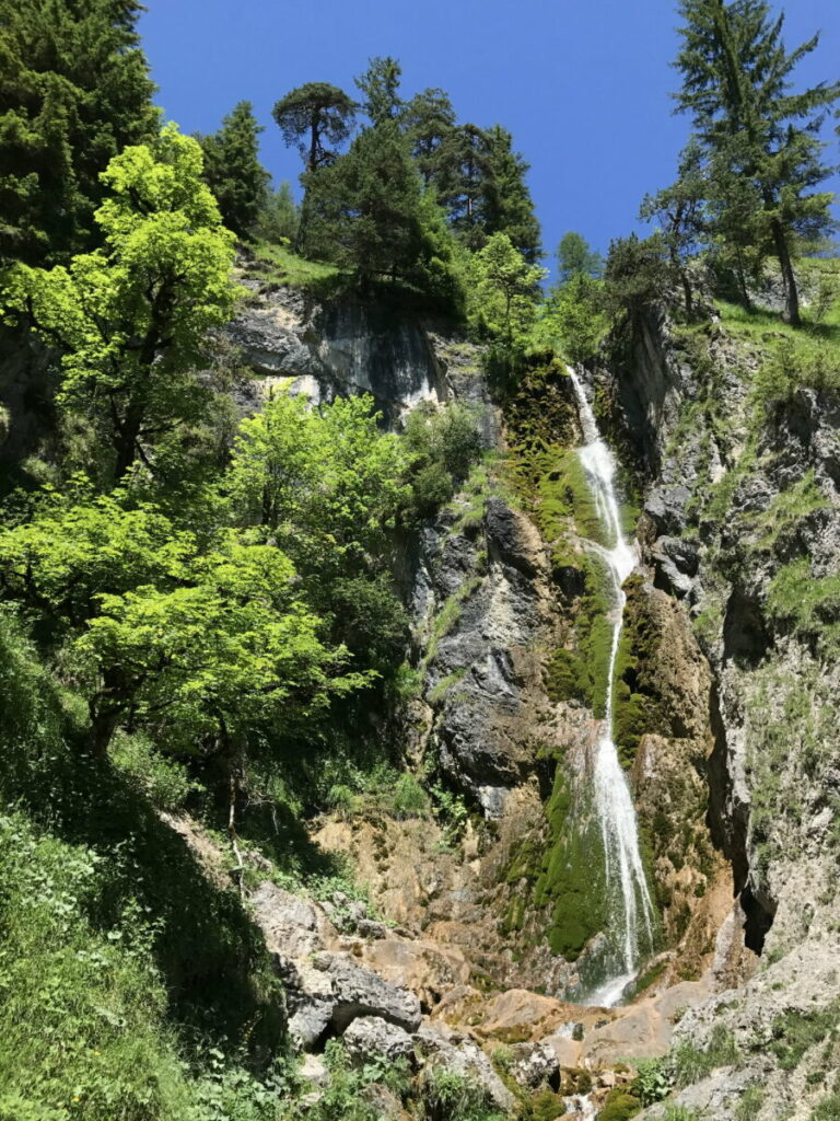 Das ist der Stod Wasserfall in Achenkirch