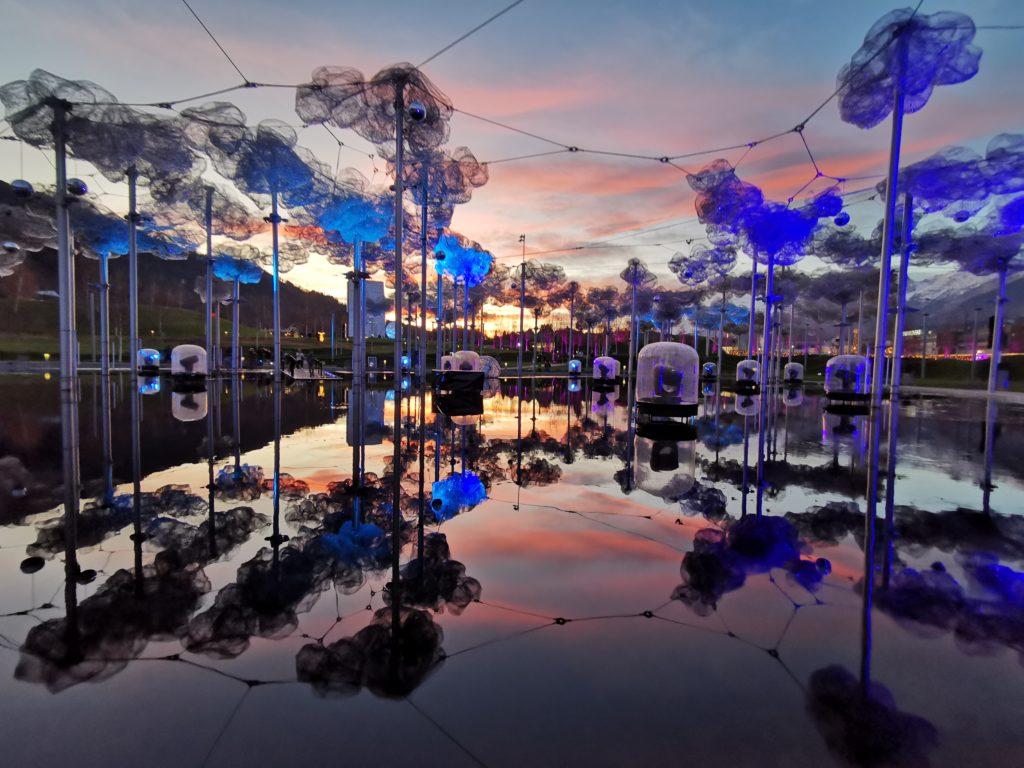 Swarovski Kristallwelten Wattens - der Außenbereich mit der Kristallwolke