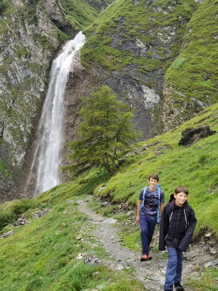 Tuxer Wasserfälle - der Schleierwasserfall in Hintertux