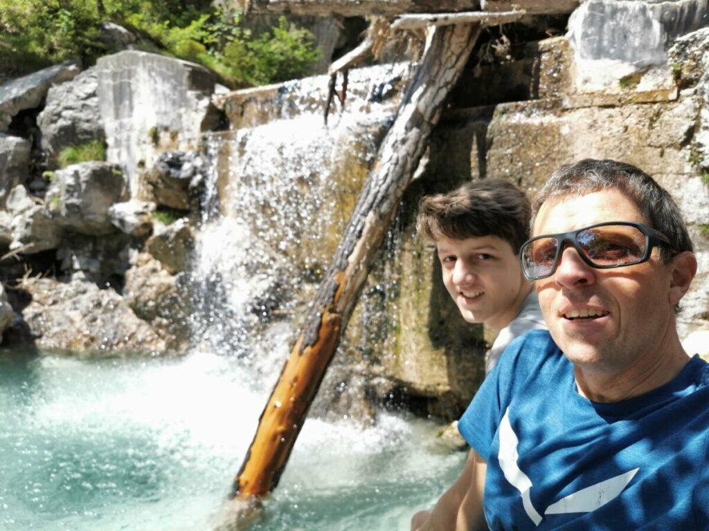 Das Vomper Loch mit seinen Wasserfällen