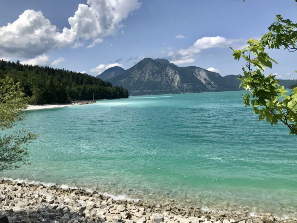 Walchensee Bayern - wenn die Sonne hineinscheint, wie in der Karibik!