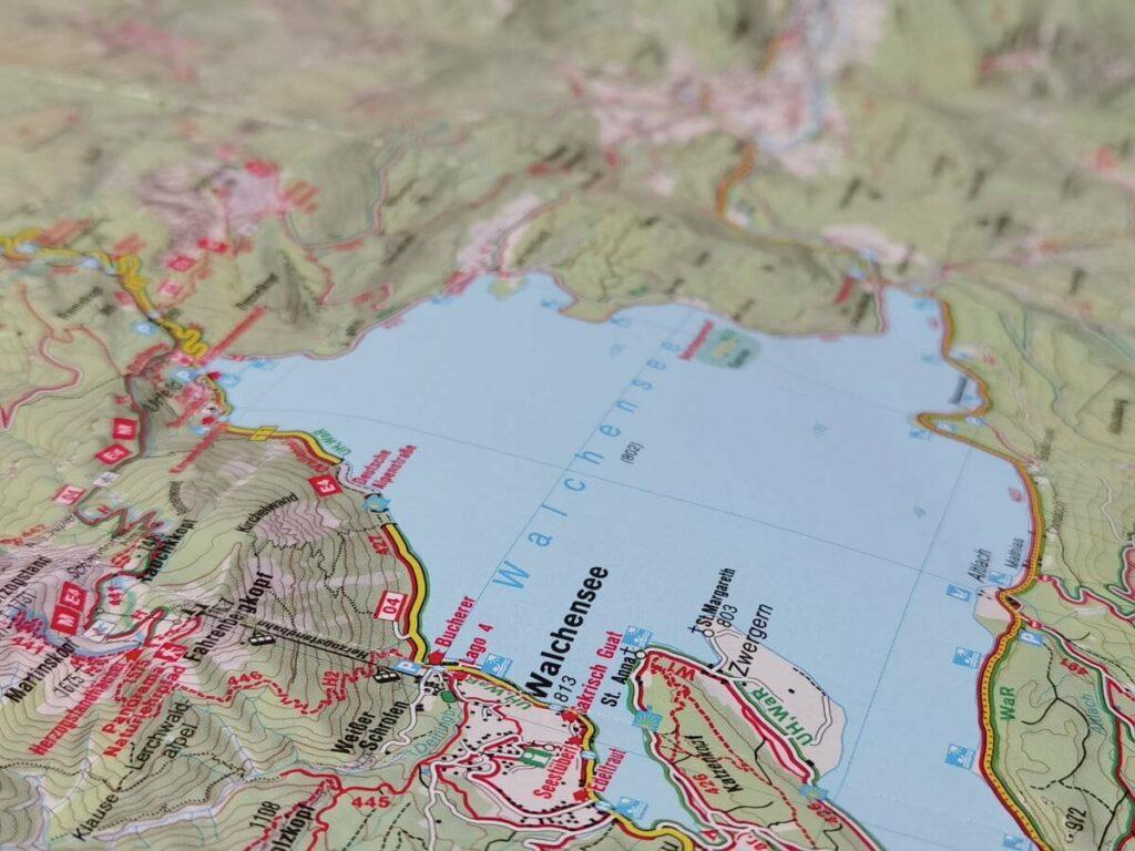 Walchensee Karte - das ist die perfekte Wanderkarte!