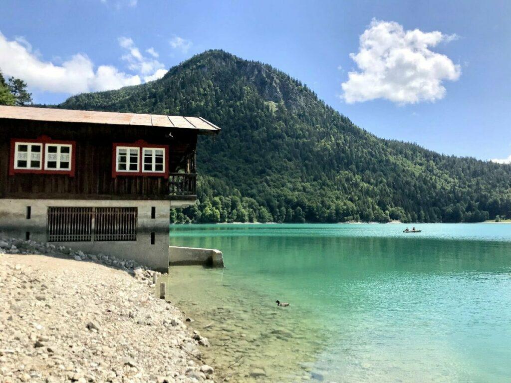 Der Walchensee am Eingangs ins Karwendel