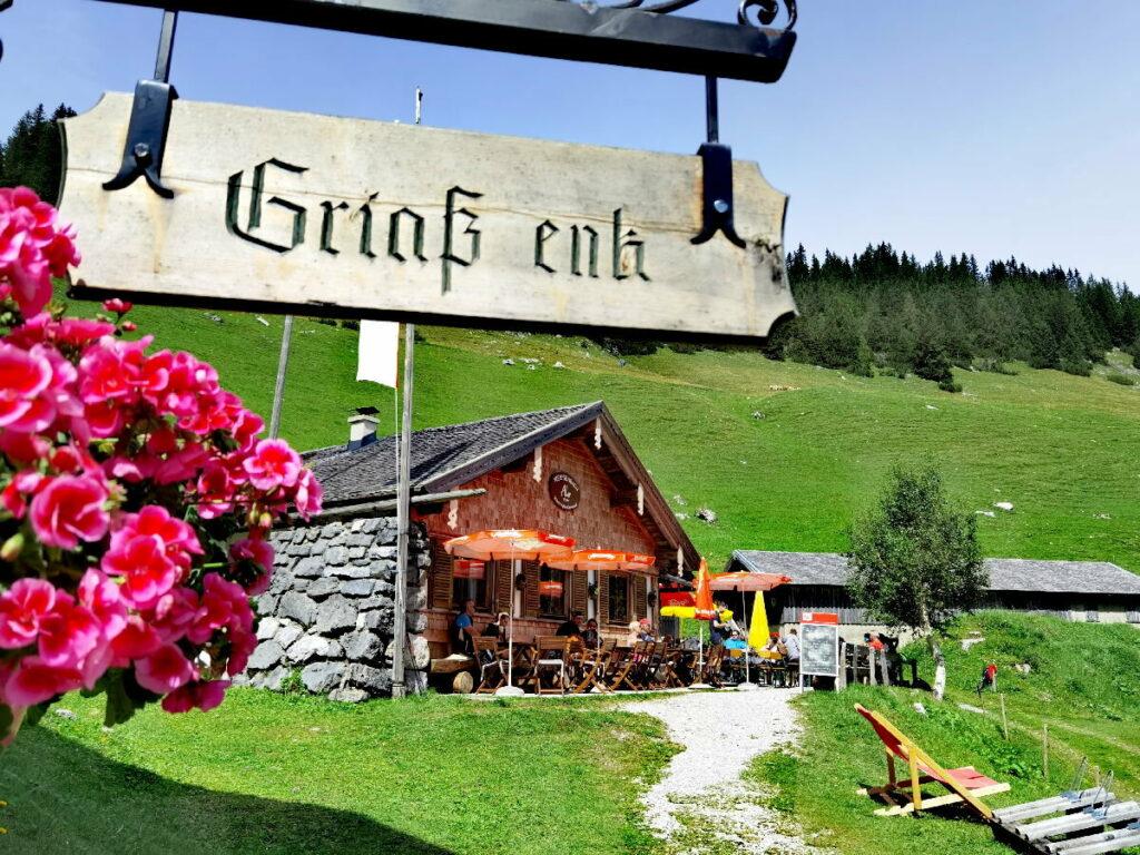 Die Weissenbachalm am Achensee im Karwendel