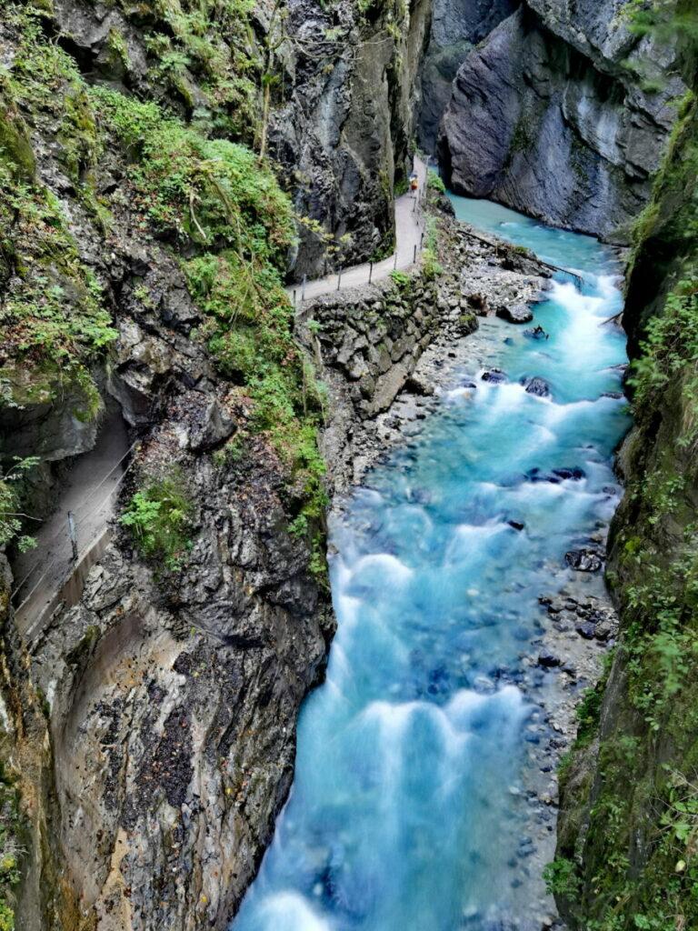 Die Partnachklamm im Wettersteingebirge
