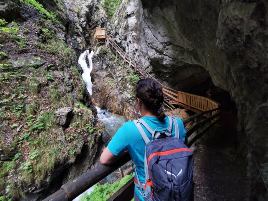 Wolfsklamm Wanderung - viel Spaß in diesem Naturdenkmal
