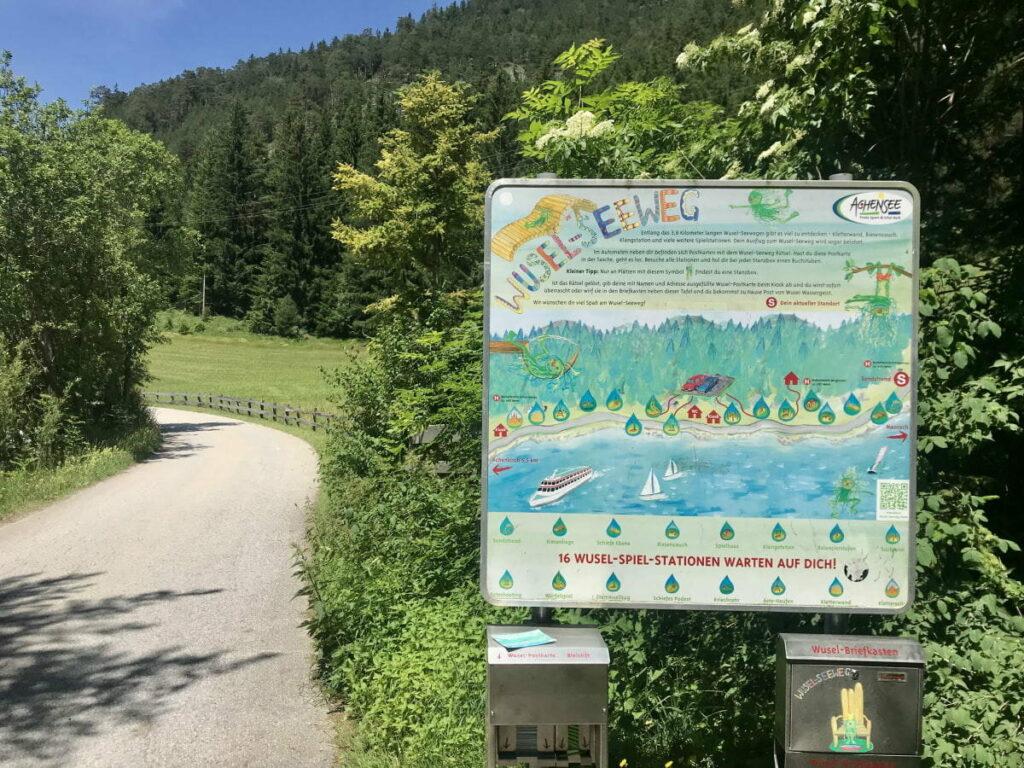 Der Wuselweg am Achensee mit 16 Stationen