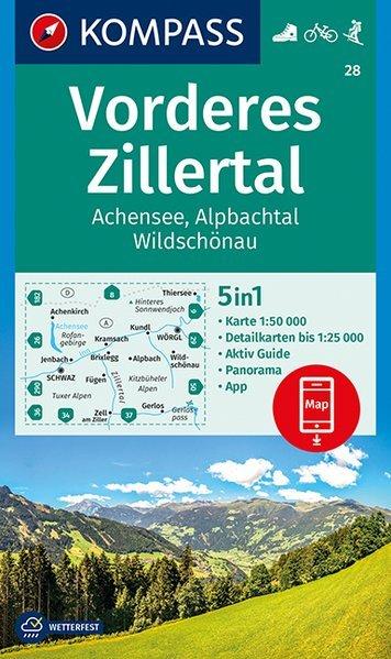 Zillertal Karte - Wanderkarte, Straßenkarte und Ortsplan!