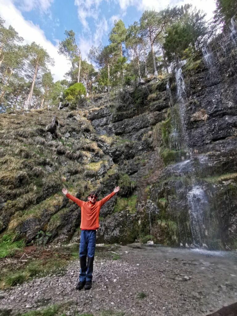 Die schönsten Wasserfälle: Der Buchauer Wasserfall im Frühling