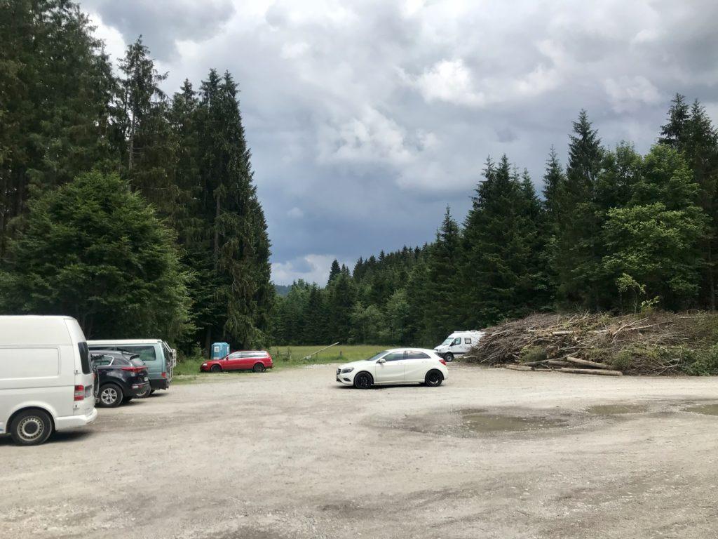 Wenn du am Sylensteinsee baden willst, ist das dein Parkplatz
